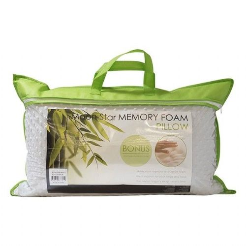 Moon Star Memory Foam Pillow - White